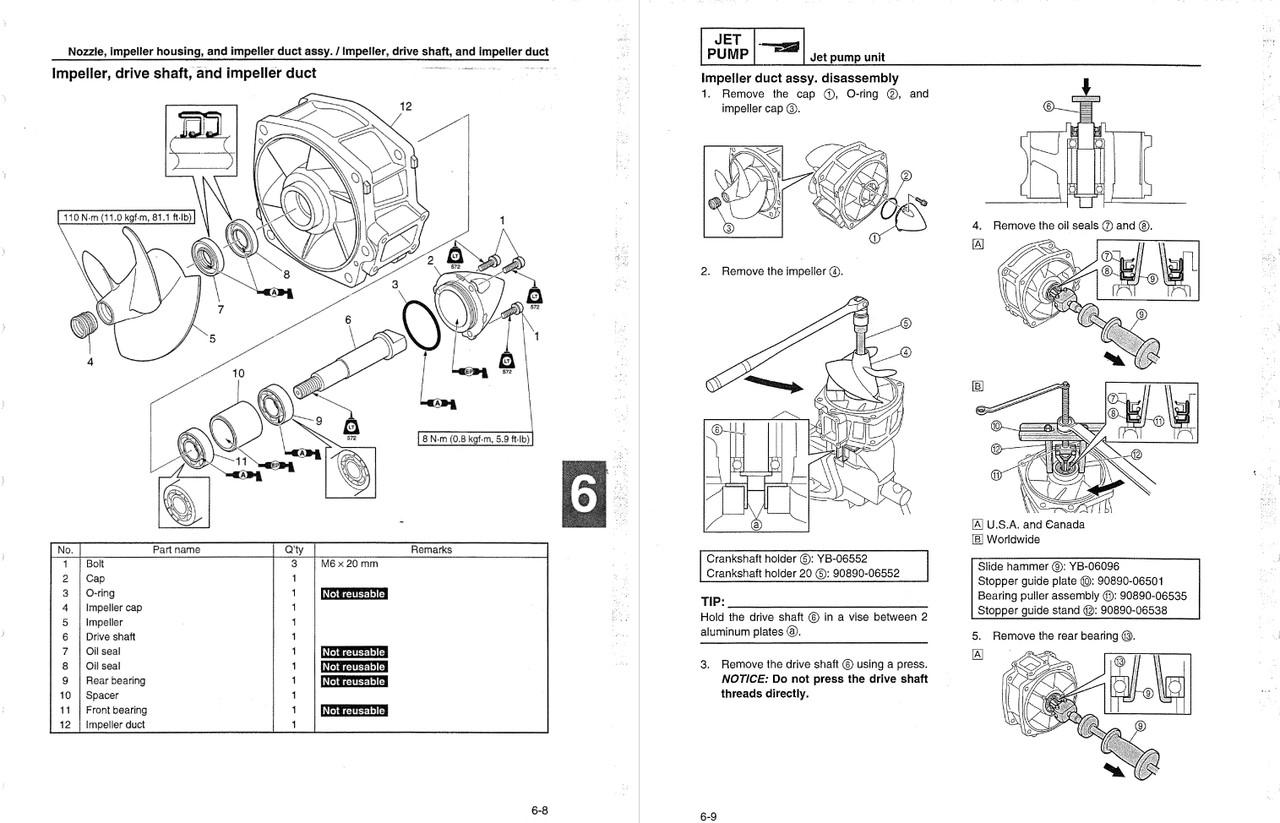Yamaha 2012 Waverunner VX Sport Service Manual