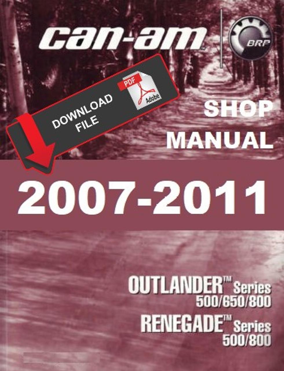 2007-2008 can-am outlander 650 xt atv service repair manual.