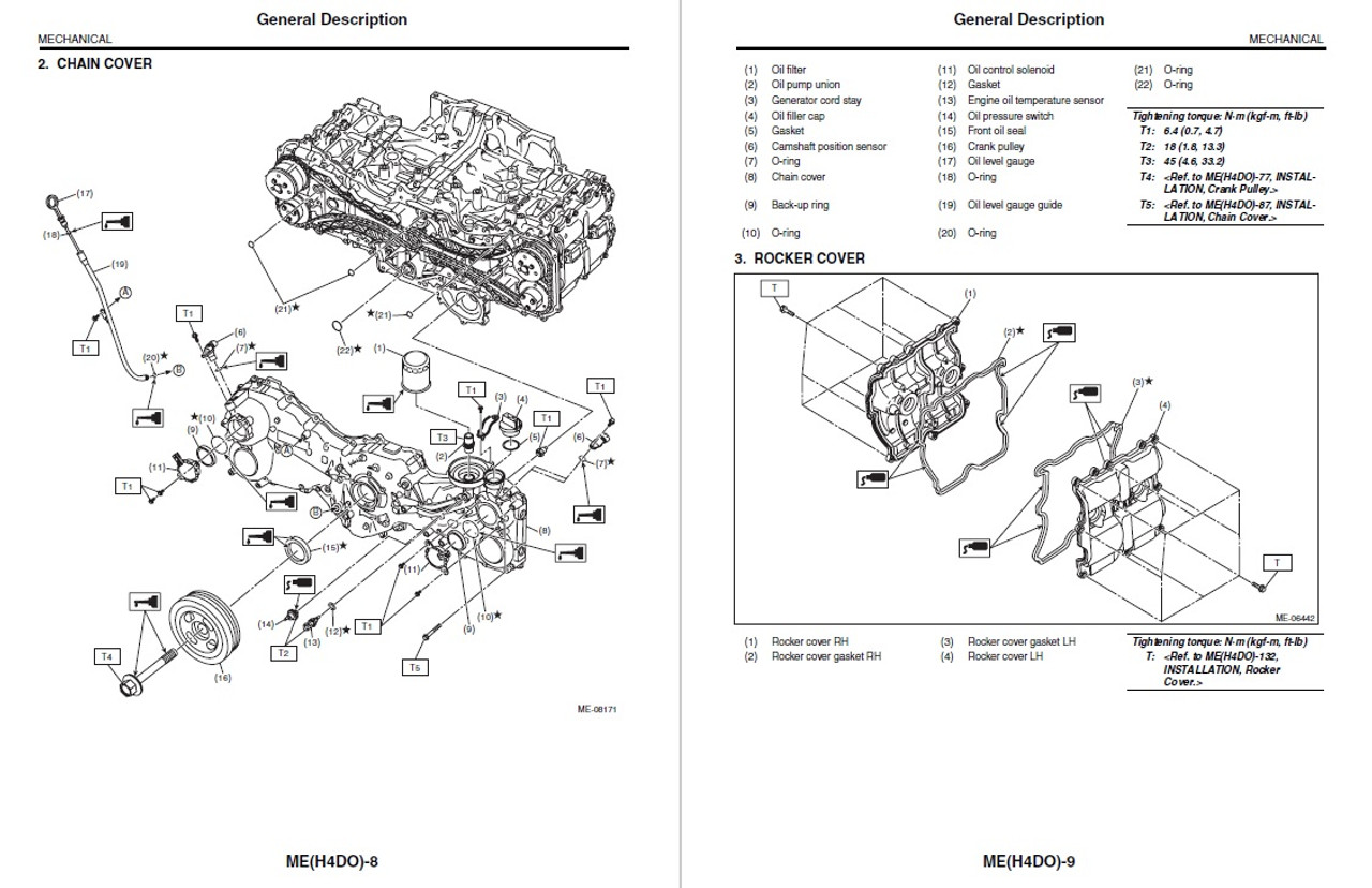 Subaru 2018 Legacy 2.5i Sport Service Manual