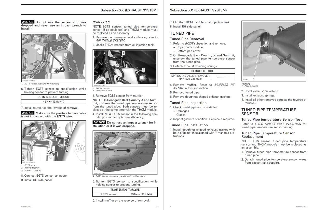 Ski-Doo 2013 REV-XS Snowmobiles Service Manual