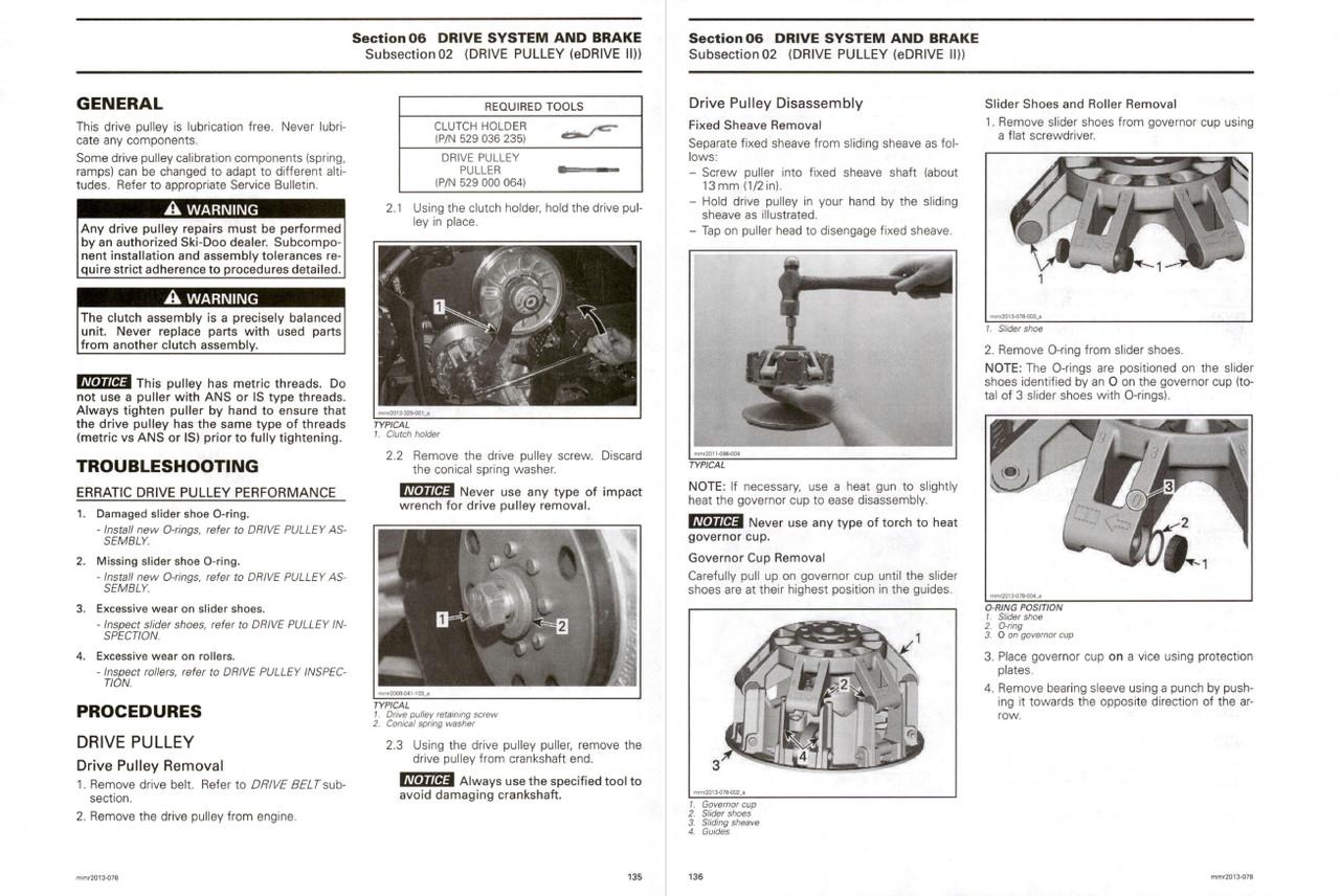Ski-Doo 2013 REV-XP Snowmobiles Service Manual