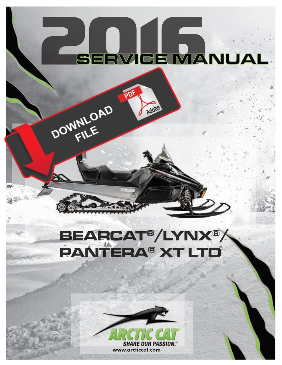 arctic cat jet ski wiring diagrams arctic cat 2016 bearcat 7000 xt snowmobile service manual  arctic cat 2016 bearcat 7000 xt
