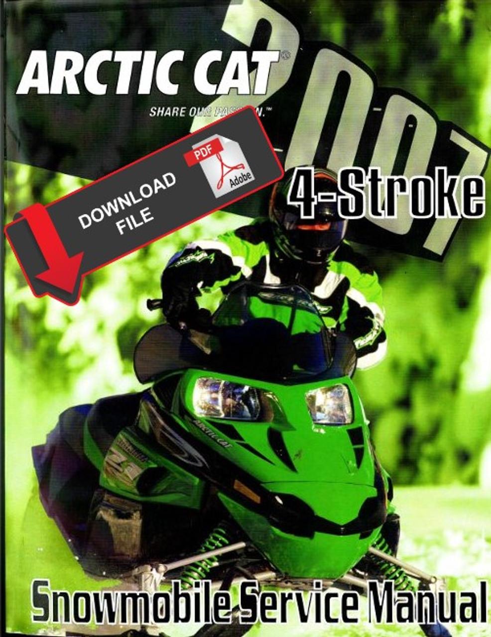 Arctic Cat 2007 T 660 Snowmobile Models Service Manual