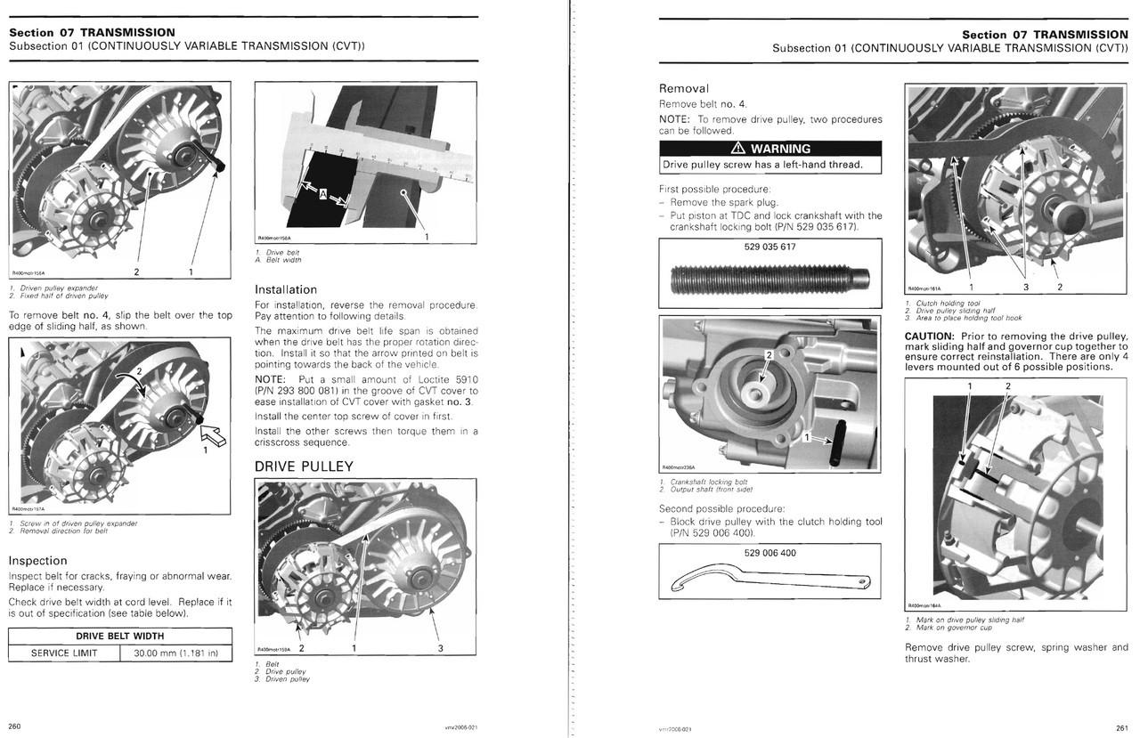 Bombardier 2006 Outlander MAX XT 800 Service Manual