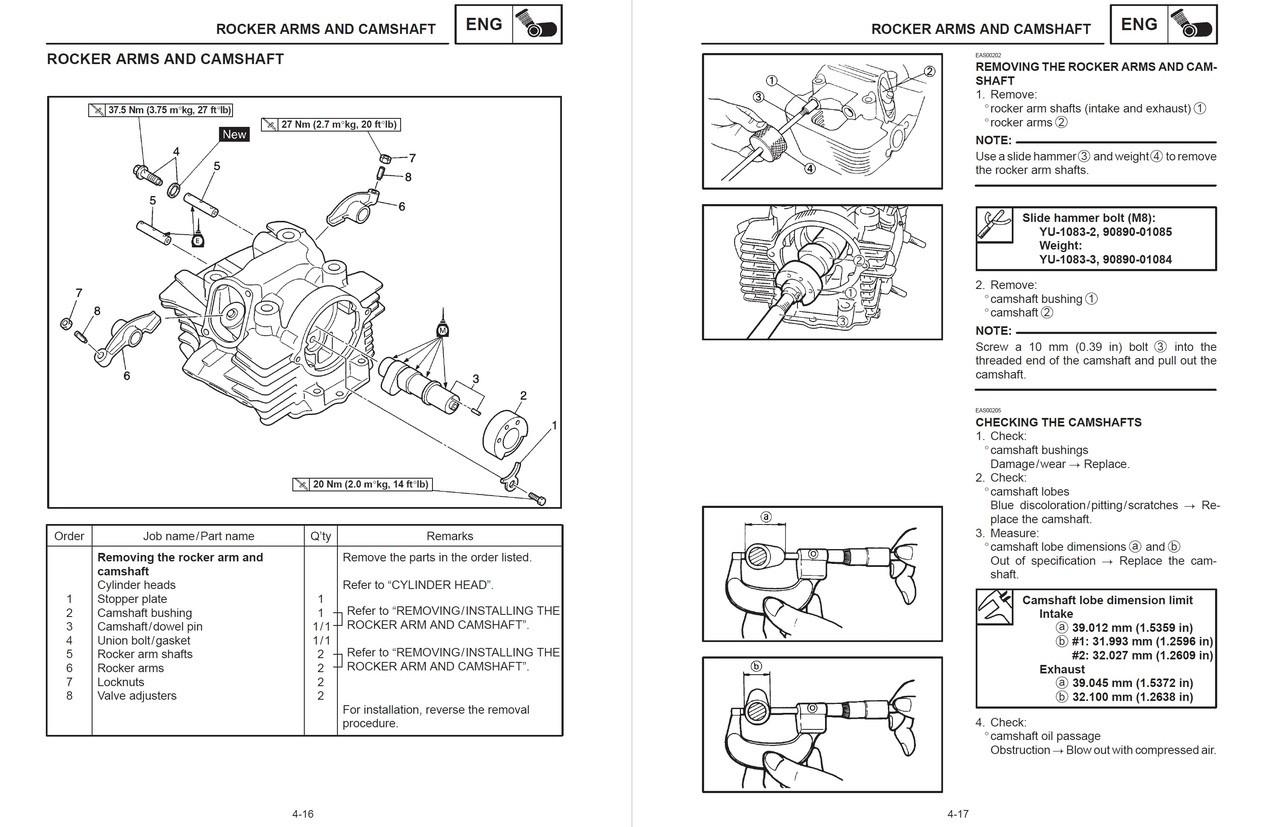 Yamaha 2004 XVS1100 Service Manual