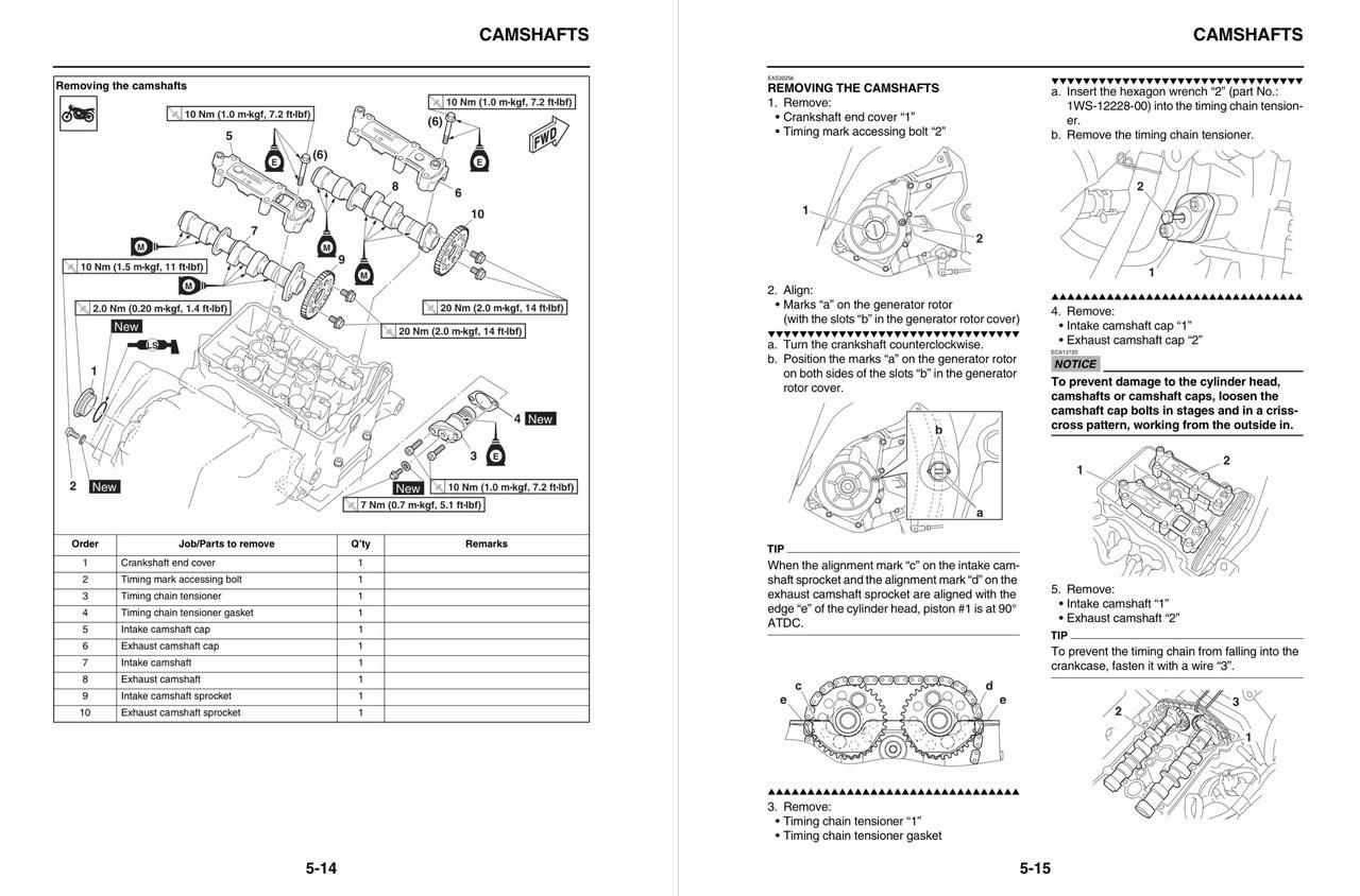 Yamaha 2015 YZF-R3 Service Manual