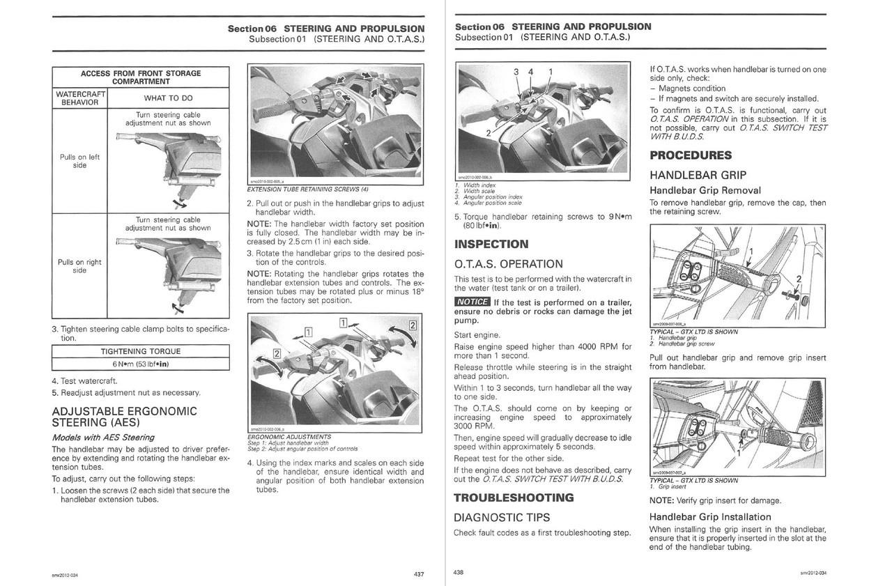 Sea-Doo 2012 GTI 155 Jetski Personal Watercraft Service Manual