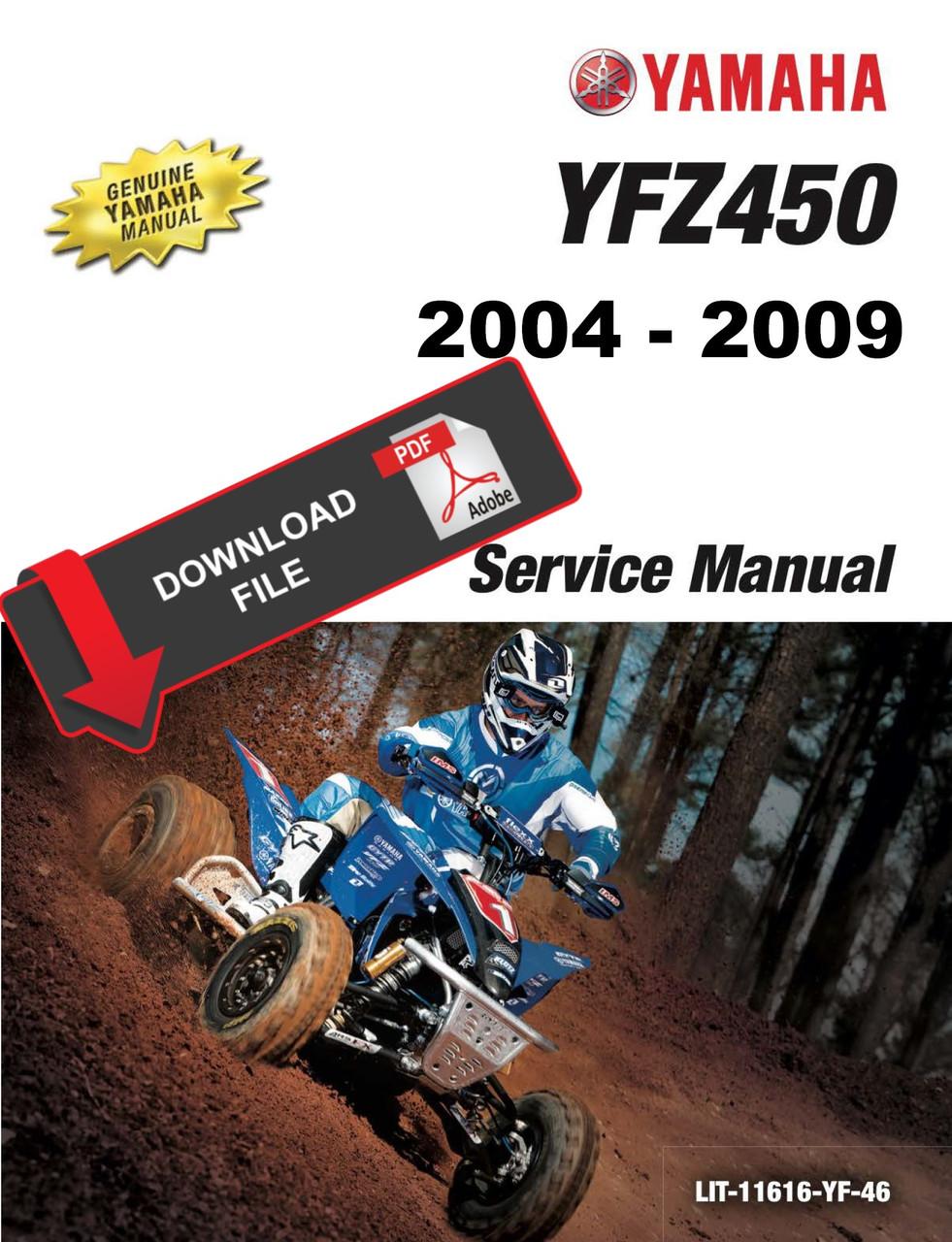 Yamaha 2005 Yfz 450 Service Manual