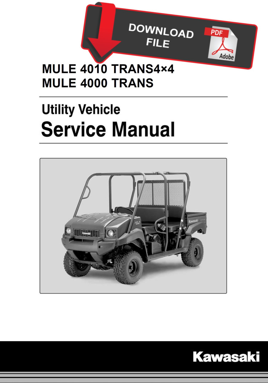 Kawasaki 2014 Mule 4000 Trans Service ManualService Manual Warehouse