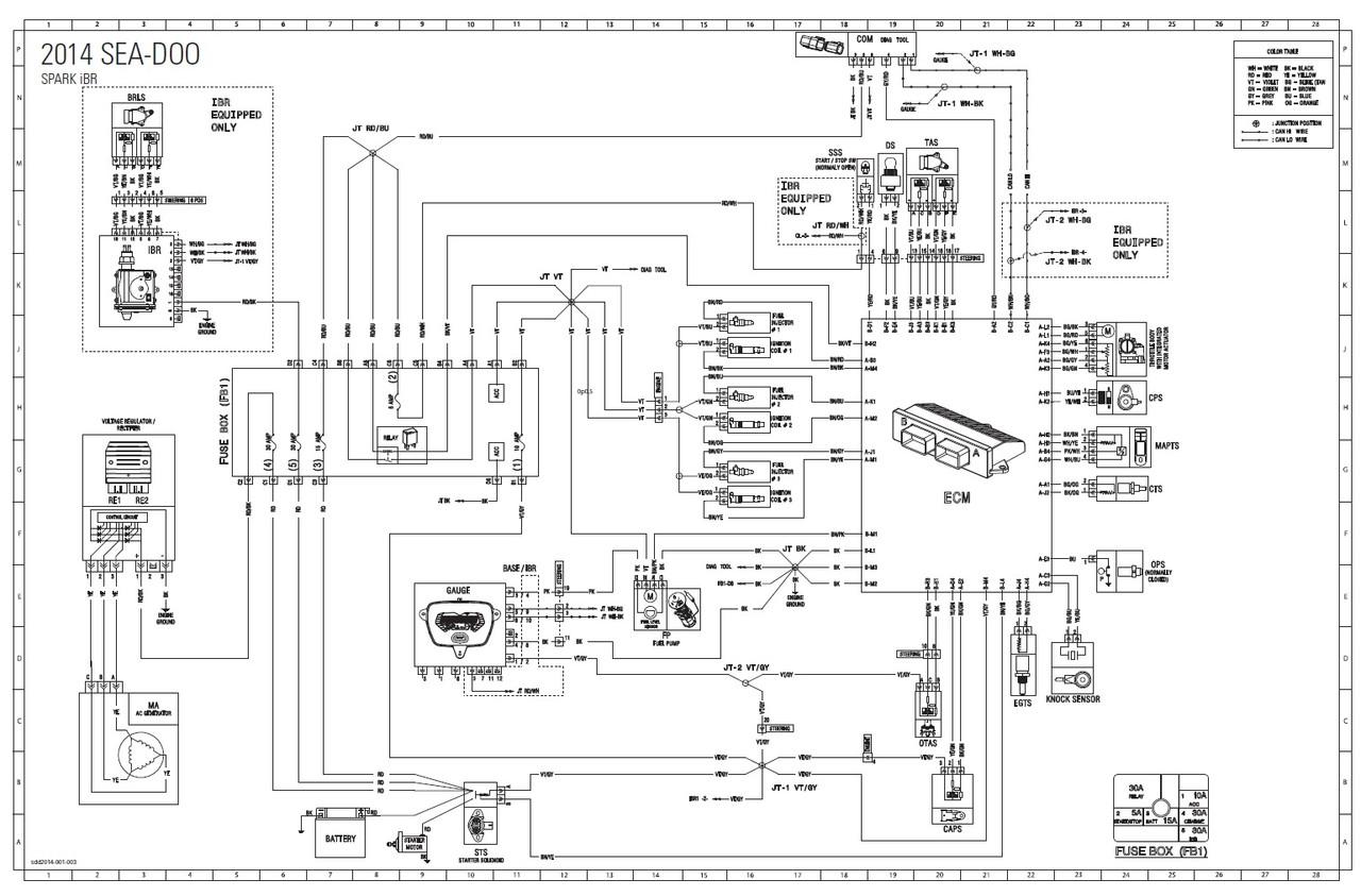 Sea-Doo 2015 Spark Series 2-UP iBR Service Manual