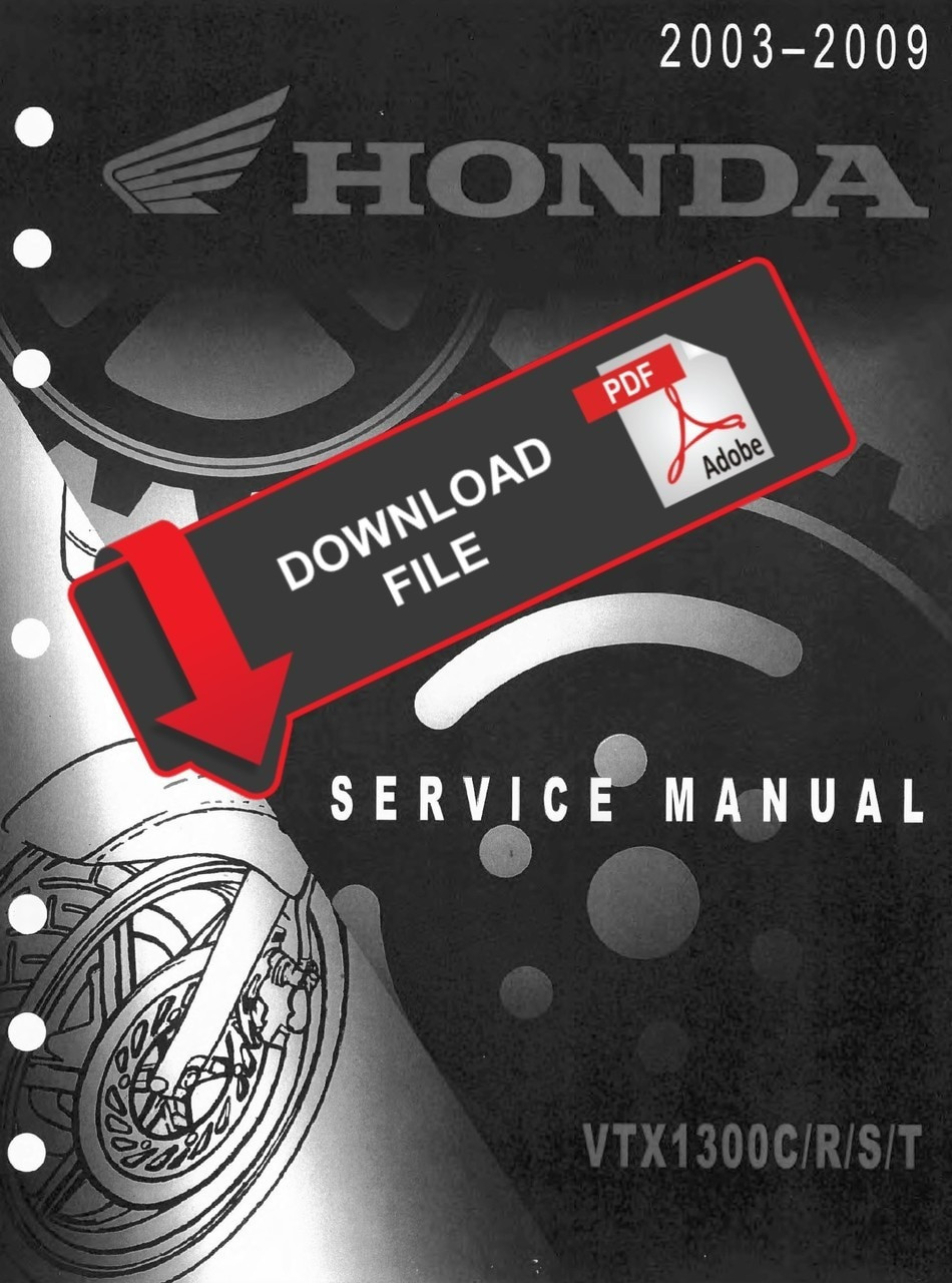 Honda 2005 VTX 1300 Service Manual   2005 Honda Vtx 1300s Wiring      Service Manual Warehouse