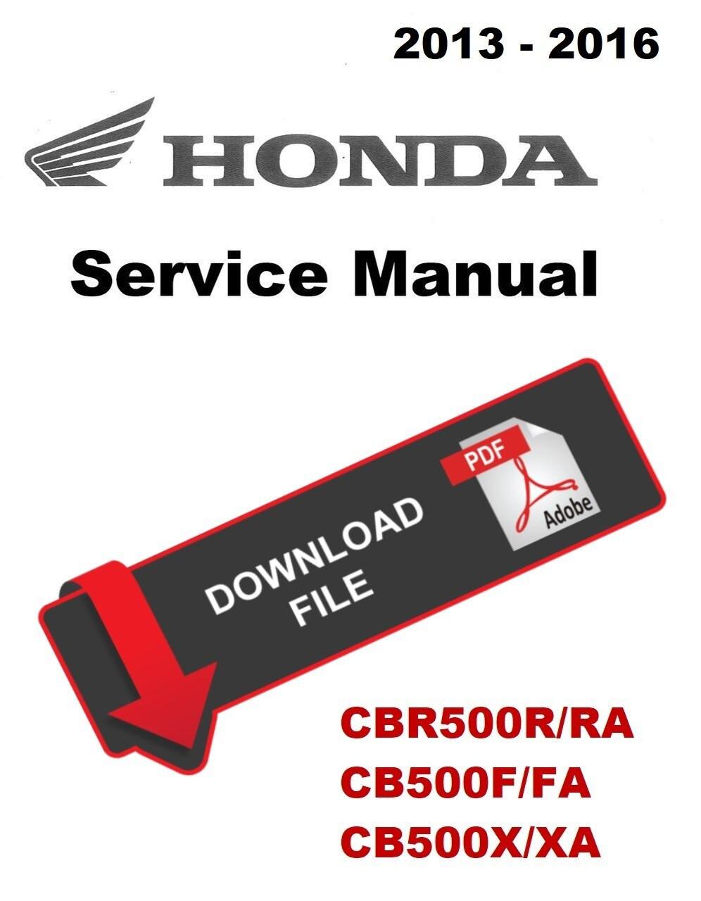 Haynes Manual CB500F,CB500X,CBR500R 2013-2015 Each Automotive ...