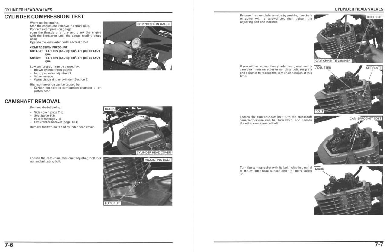 Honda 2007 CRF 80F Service Manual