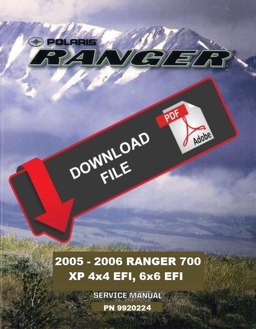polaris 2006 ranger xp 700 6x6 service manual