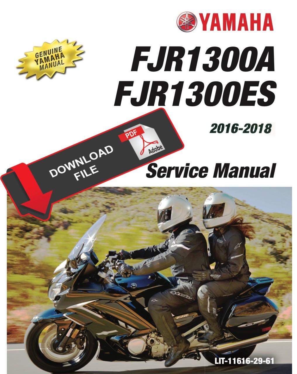 Yamaha 2016 Fjr1300 Service Manual