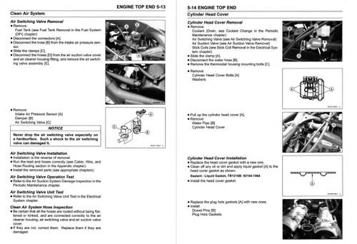 Kawasaki 2018 Versys X 300 ABS Service Manual