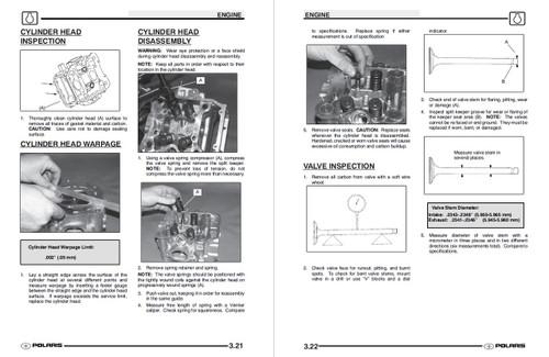 Polaris 2004 Sportsman 500 ATV Service Manual