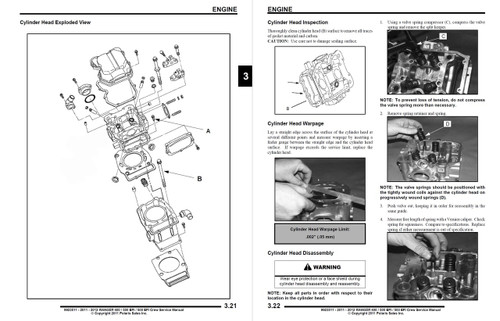Polaris 2011 Ranger 500 EFI Service Manual