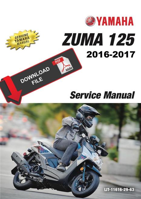 Yamaha 2016 Zuma 50 Service Manual