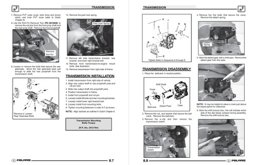 Polaris 2004 Sportsman 700 ATV Service Manual