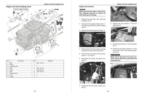 Yamaha 2018 Waverunner EX Service Manual