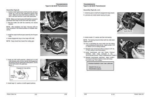 Polaris 2000 Xplorer 250 4x4 ATV Service Manual