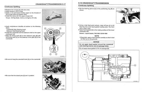 Kawasaki 2016 Versys 650 Service Manual on