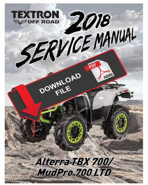 textron arctic cat 2018 alterra tbx 700 service manual