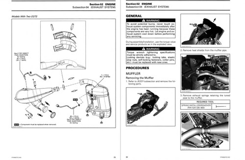Ski-Doo 2018 Summit 850 E-TEC Snowmobiles Service Manual