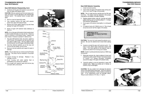 Polaris 1997 400 6x6 ATV Service Manual