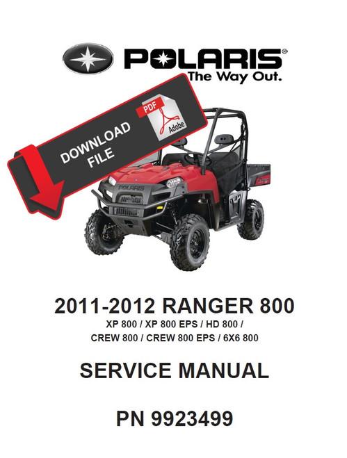 Polaris 2001 ranger 6x6 service manual.