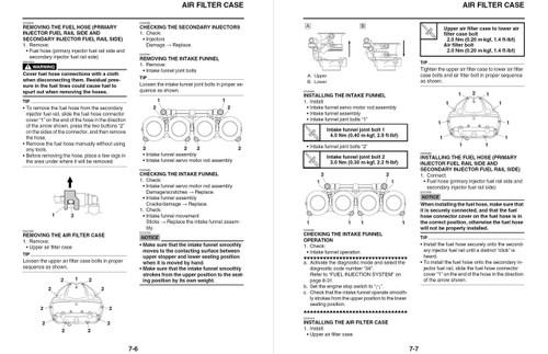Yamaha 2014 YZF-R6 Service Manual