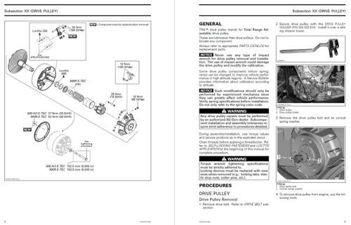 Ski-Doo 2014 REV-XS 800R E-TEC Snowmobiles Service Manual