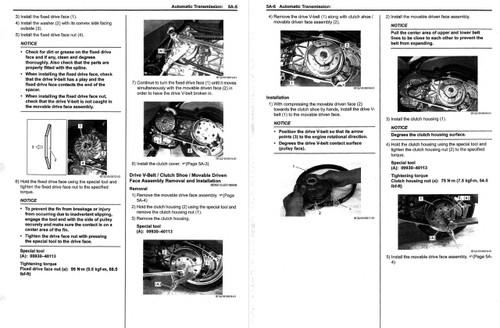 Suzuki 2014 Burgman 200 Scooters Service Manual