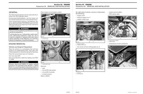 Bombardier 2005 Outlander Max XT Service Manual
