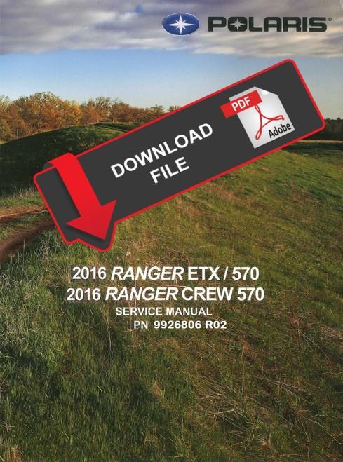 Polaris 2015 Ranger Etx Service Manual