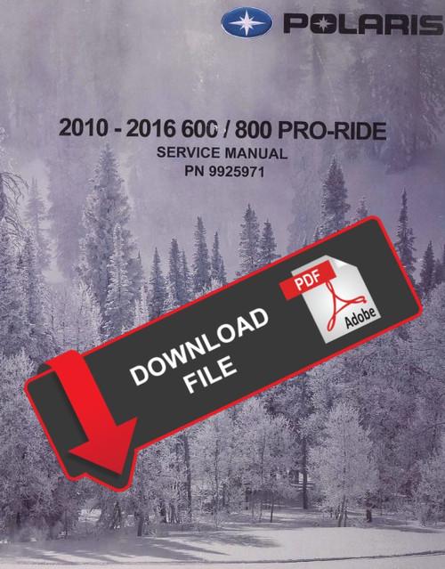 Polaris 2012 800 Pro Rmk 163 Service Manual