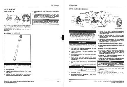 Polaris 2013 800 Switchback Service Manual