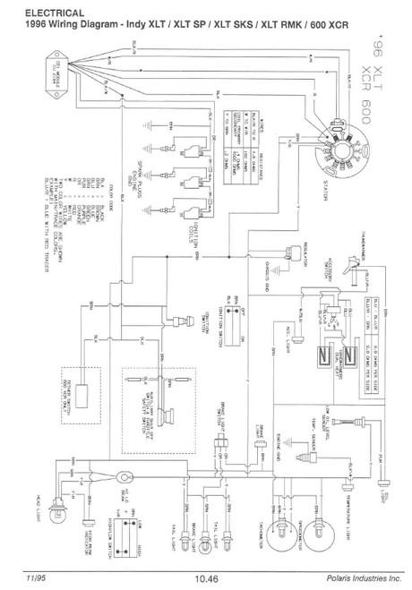 [SCHEMATICS_4HG]  Polaris 1998 Indy 700 RMK Snowmobiles Service Manual | 1999 Polaris Indy 700 Wire Diagram |  | Service Manual Warehouse
