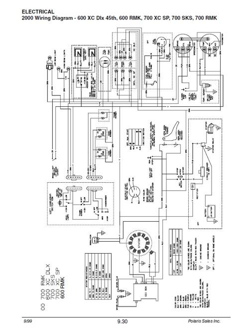Polaris 2000 Snowmobile 700 XC SP Service Manual on