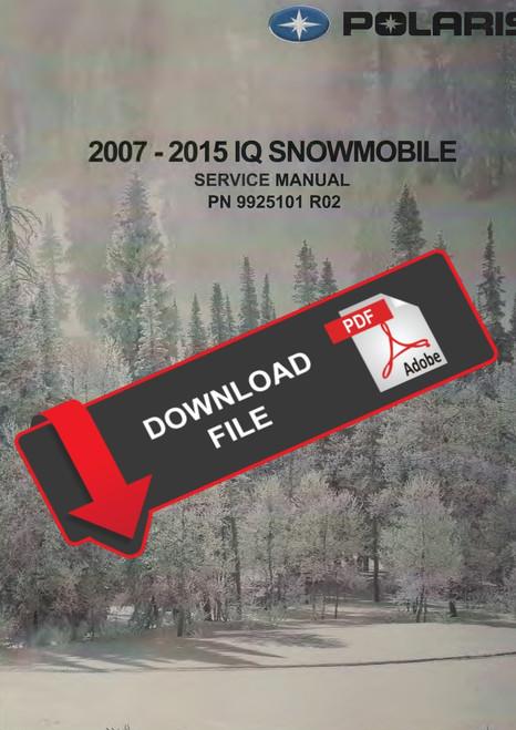 Polaris 2008 800 Dragon Rmk 163 Snowmobiles Service Manual