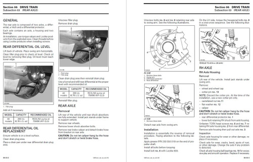 Bombardier 2003 Traxter 500 Service Manual