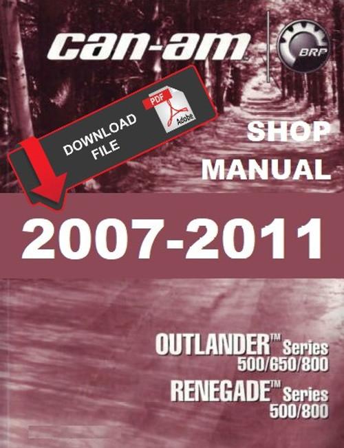 2007-2008 can-am outlander renegade 500 650 800 atv workshop.