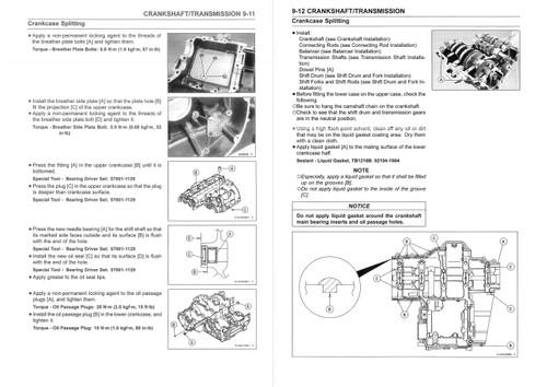 Kawasaki 2017 Z900 Service Manual