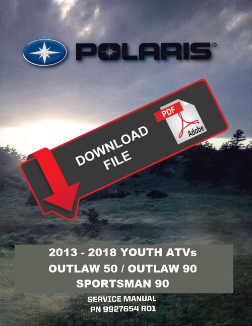 Polaris 2014 Outlaw 90 Atv Service Manual