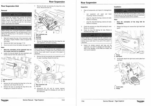 Triumph Tiger Explorer 1200 2013 Service Manual
