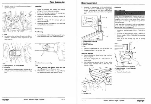 Triumph Tiger Explorer 1200 2014 Service Manual