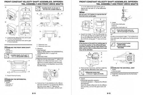 Yamaha 2017 Wolverine Service Manual