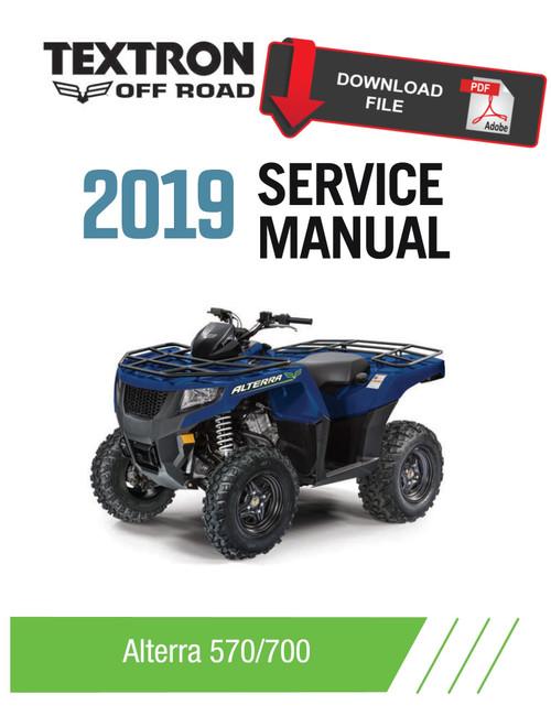 Arctic Cat Textron 2019 Alterra 450 Service Manual