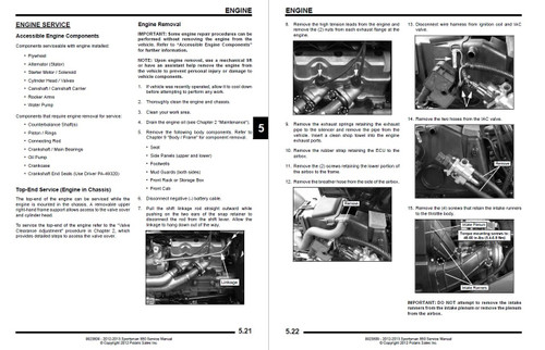 Polaris 2013 Sportsman XP 850 ATV Service Manual